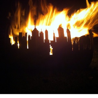 Picture of Oil Drum Garden Fire Pit With a Skyline..!!