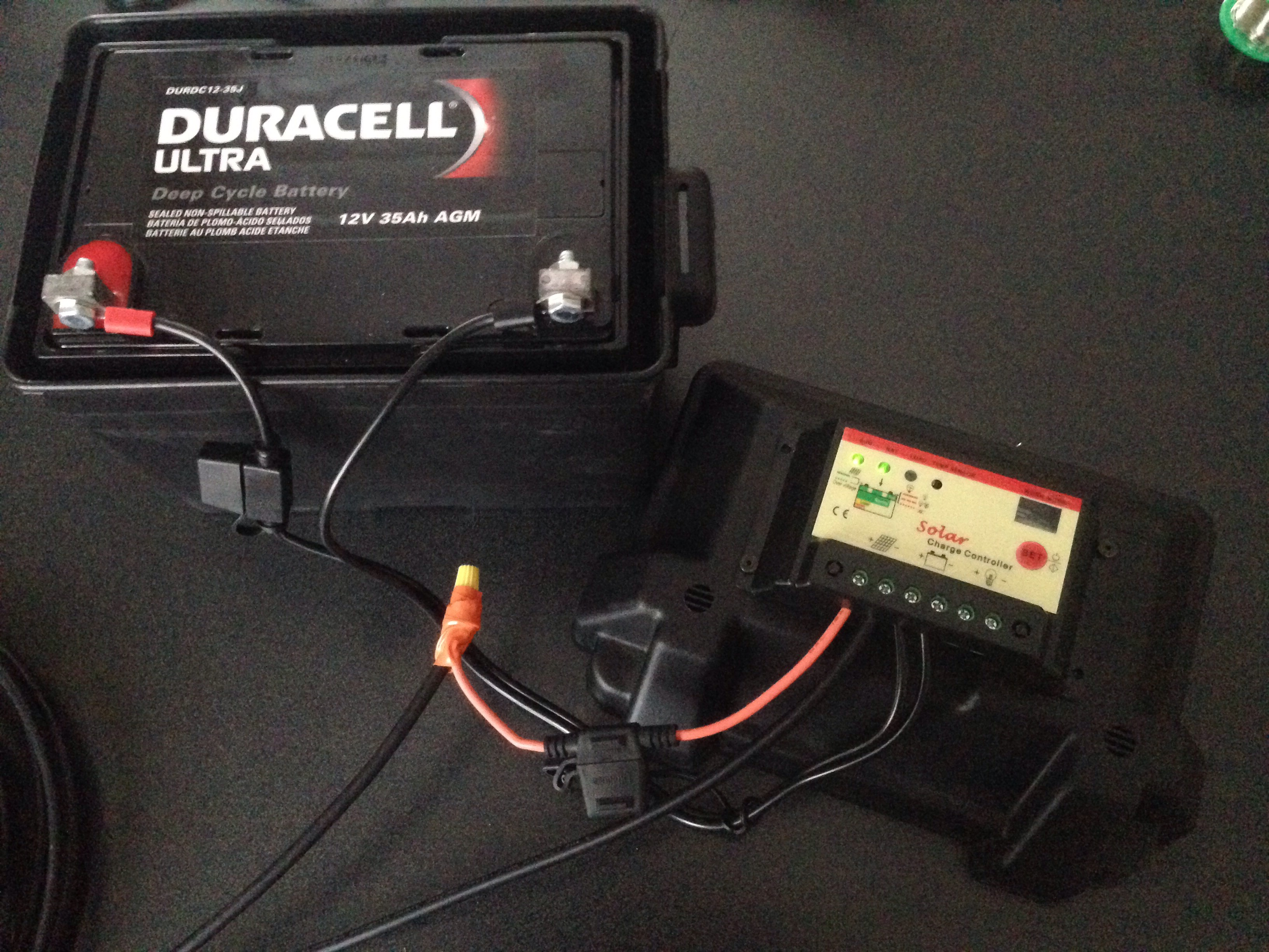 Picture of Charge Controller and Battery Box
