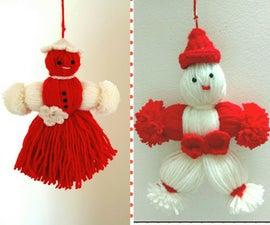 Mrs. & Mr.  Yarn dolls (Martenitsa)