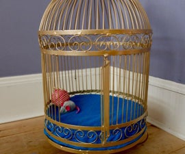 A Birdcage Makeover Into a DIY Cat Bed. Sylvester the Cat Would Be Proud.