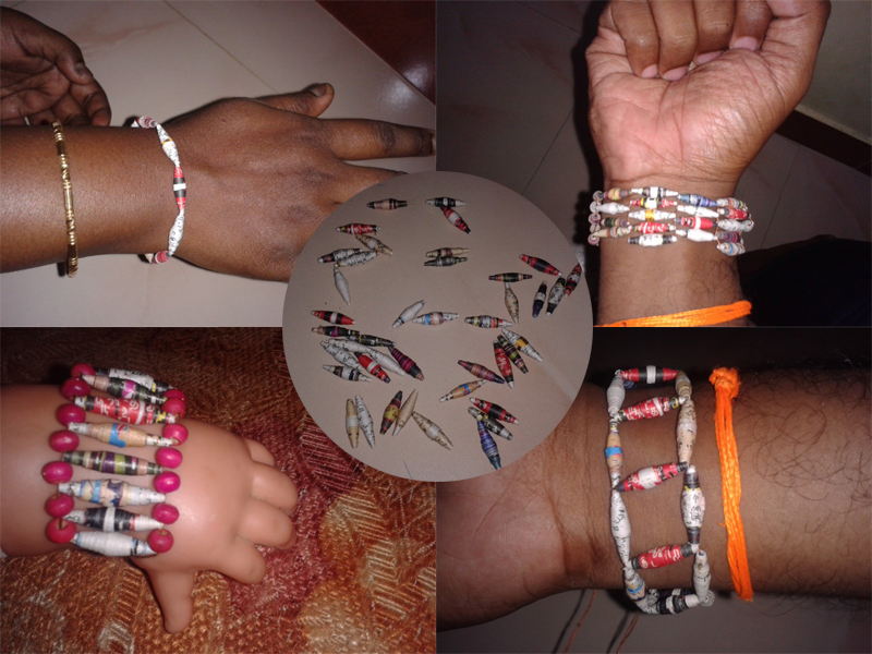 Picture of Bi Conical Paper Beads Bracelets