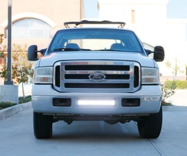 iJDMTOY LED Light Bar 05-07 Ford F-250 Install