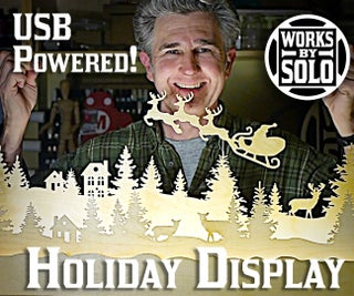 Christmas Village Scene With USB Powered LED Lighting