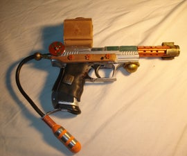 Functional Steampunk Airsoft Pistol