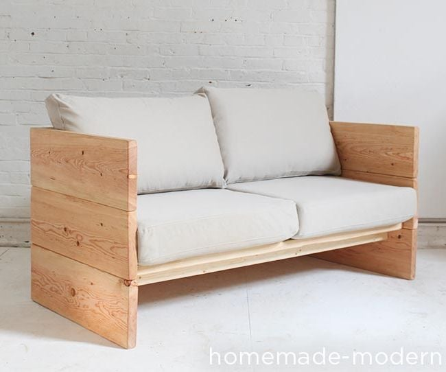 Homemade Modern Diy Box Sofa 11 Steps With Pictures