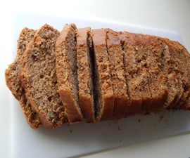Tasty & Healthy Whole Wheat Banana Bread with walnuts