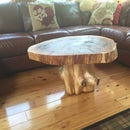 Rustic tree table