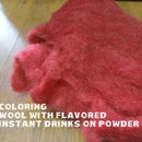 Coloring Yarn With Flavored Instant Drink On Powder