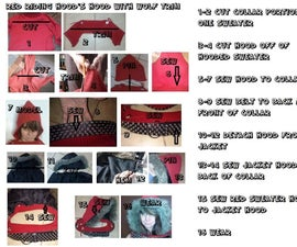 Inexpensive Red Riding Hood Fur-Lined Hood