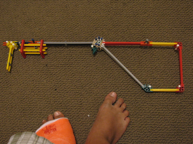 Picture of How to Make a K'nex Rubber Band Gun With Real Trigger