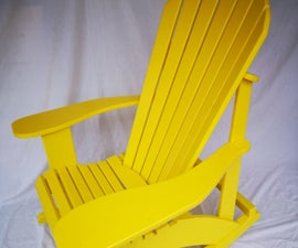 Outdoor Adirondack Rocking Chair - Solid Wood Painted