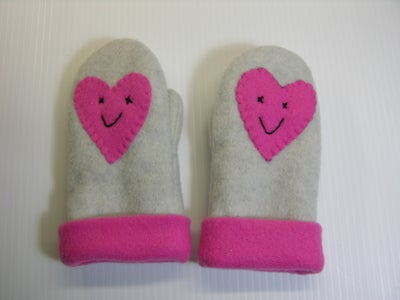 Valentine Heart and Hug Waterproof Mittens