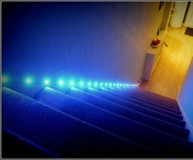 Automated Staircase LED RGB Lights for $20?