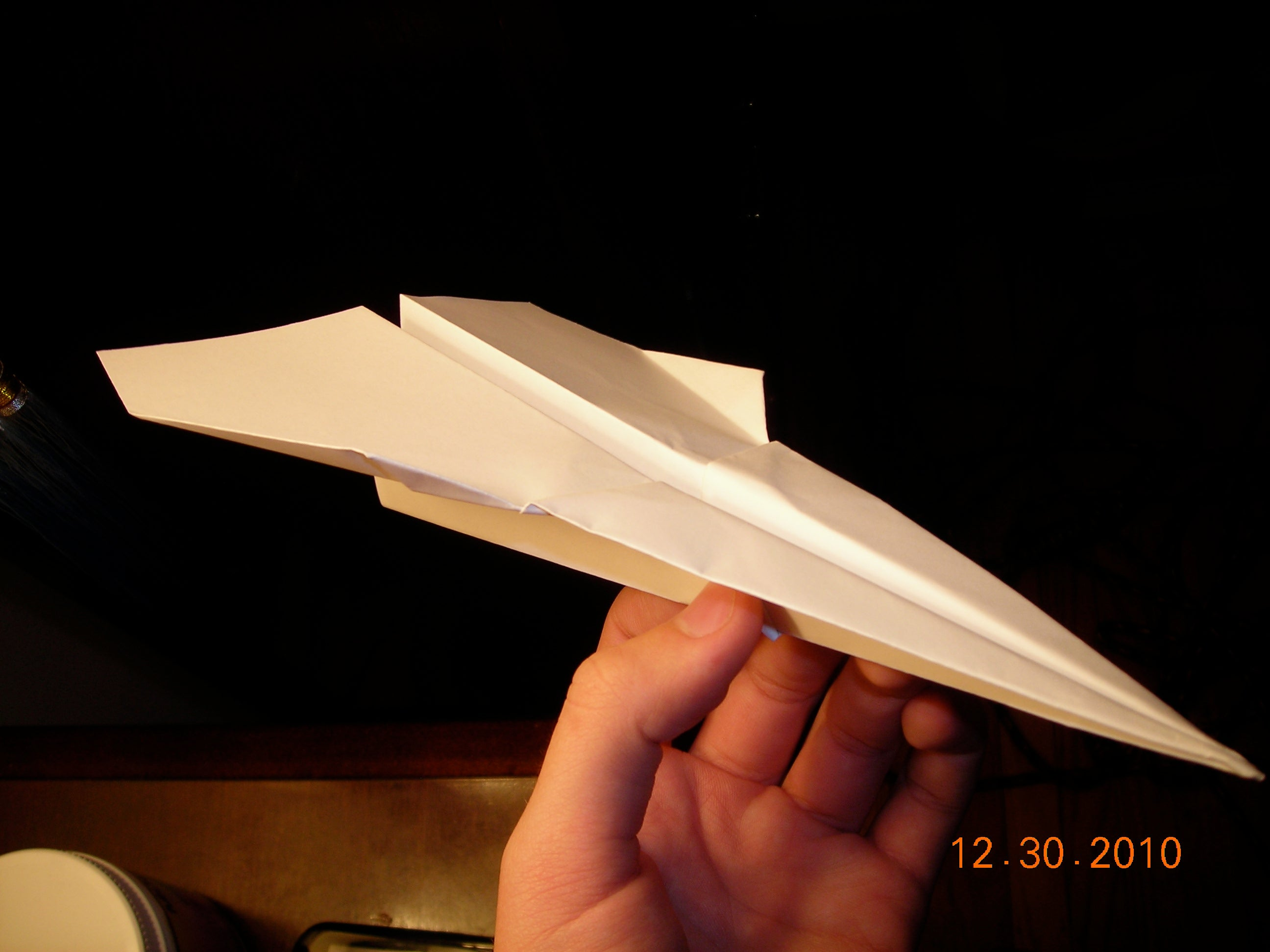 Fast Paper Airplane that Flies Far — How to make Hunter, Designed ... | 1944x2592
