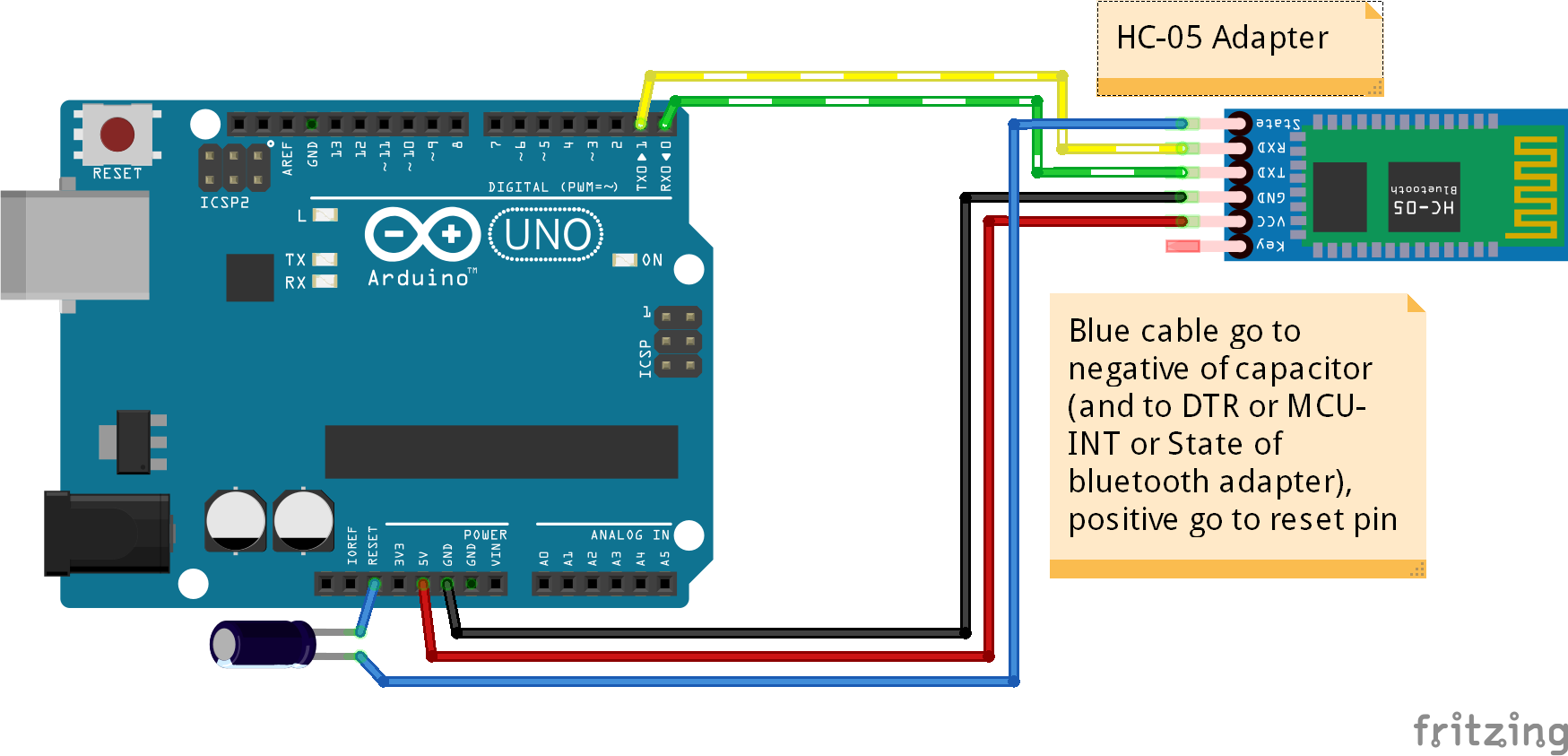 Picture of Connect Bluetooth Adapter to Arduino to Use As Serial Connection