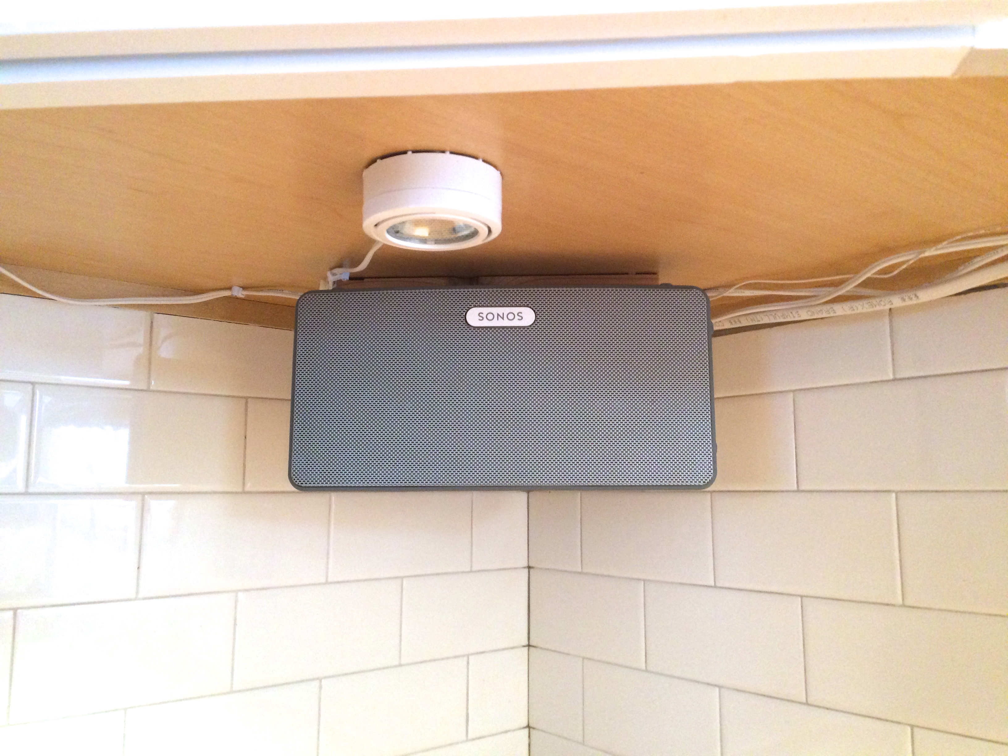 Picture of Mount a Speaker Under a Cabinet