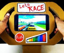 How to Make a Gaming Steering Wheel for Any Smartphone / Tablet From Cardboard DIY at Home Easy