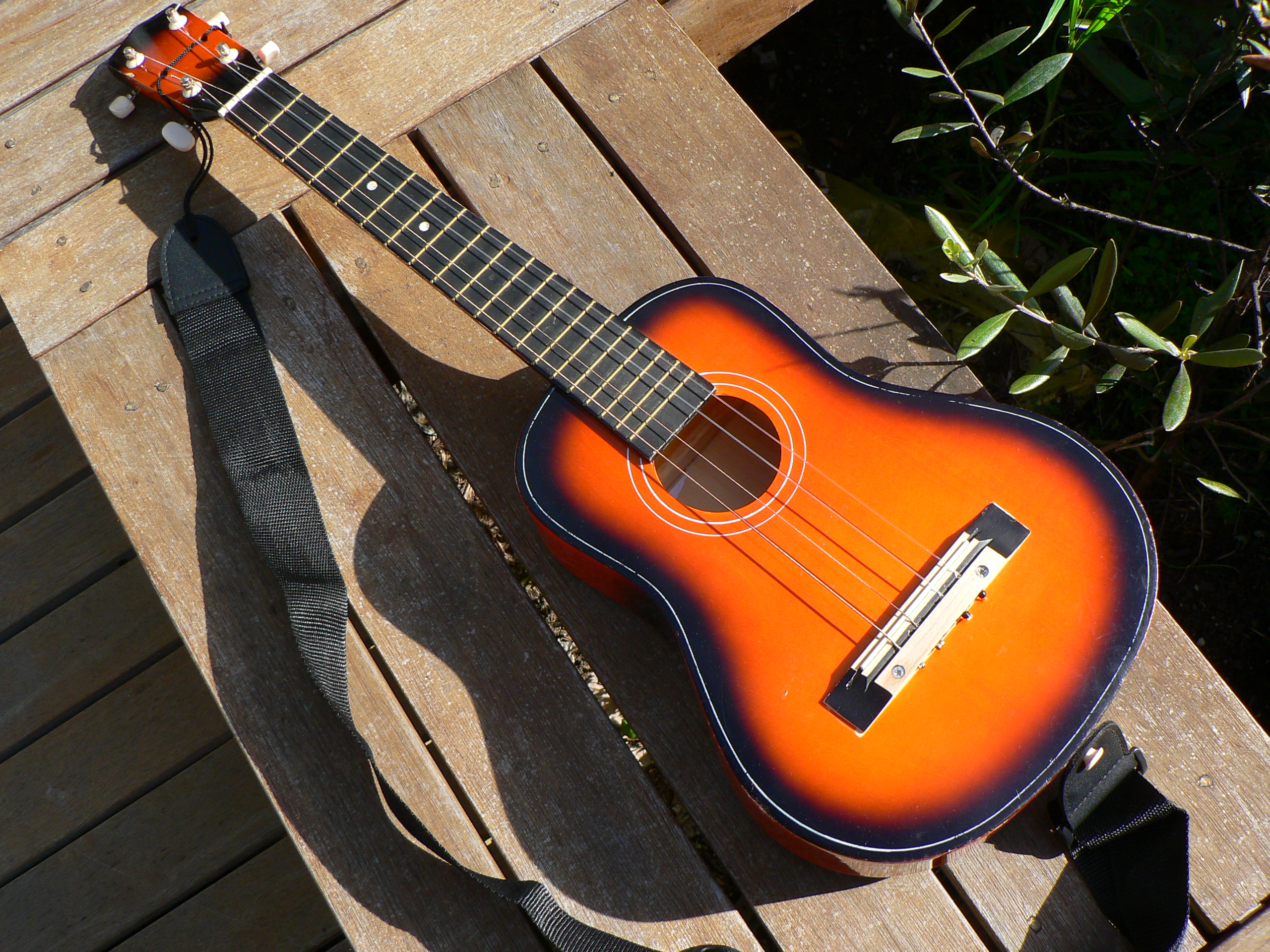 Picture of Make a Baritone Ukulele From a $10 Toy Guitar