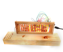 Led Matrix auto Brighteness Alarm Clock
