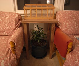 Table with inset greenhouse