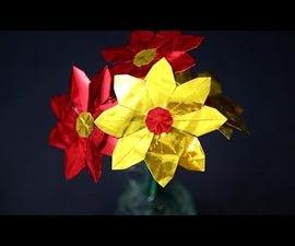 Origami Daisy Flower (DIY Valentine's Day Easy Gift Idea)!