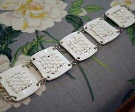 Shrinky Dink Woven Bracelet Tutorial