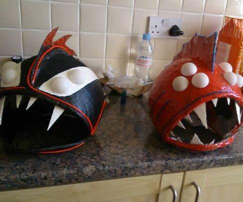 """Punk Vampire"" and ""Scary Nemo"" Halloween Masks"