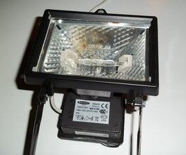 Diy Steadycam with halogen light