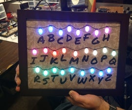 App-controlled Alphabet Board Inspired by Stranger Things