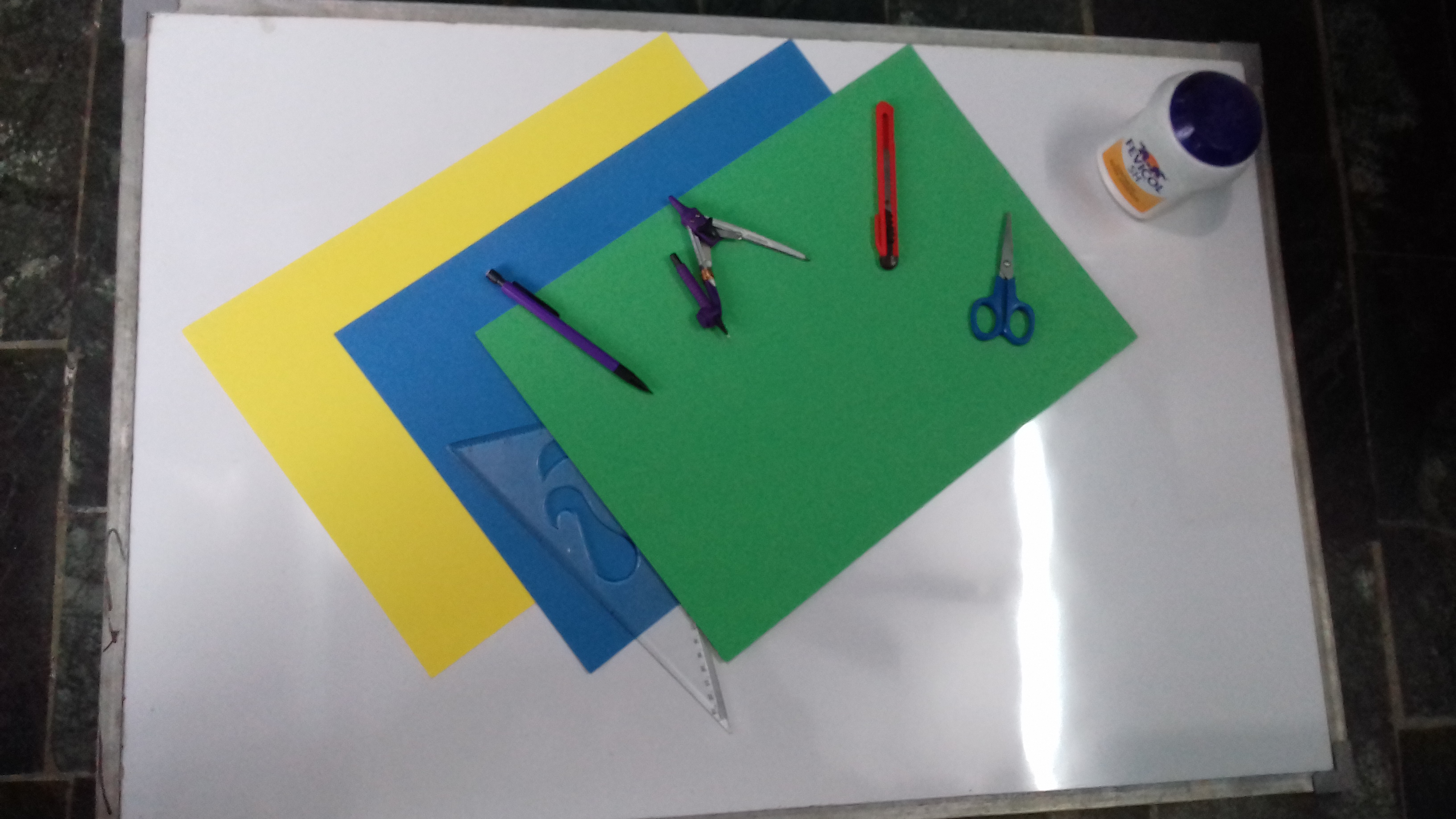 Picture of Starting With Paper and Some Basic Paper Crafting Tool.