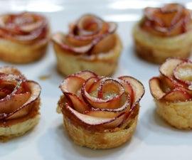Easy Apple Roses