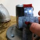 Photon Phuzbot - Sew a felt flashlight fob