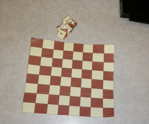 Portable Mini Chess Set Made Out of Just Paper and Tape