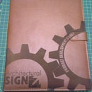 Engraving a leatherbound notepad