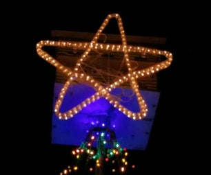 Intro:  DIY Lighted Star ~ From 5 Coat Hangers & a Rope Light