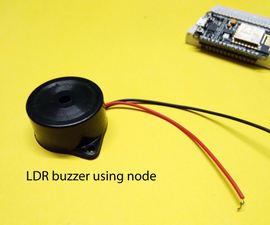 LDR Buzzer Using Node
