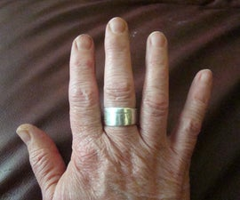 Right Hand Ring from a Silver Fork (or Spoon) Handle
