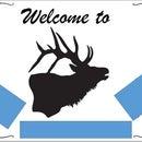 Custom Woodburned Welcome sign