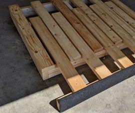 Expandable Folding Foam Bed/Sofa Platform for Teardrop Camper