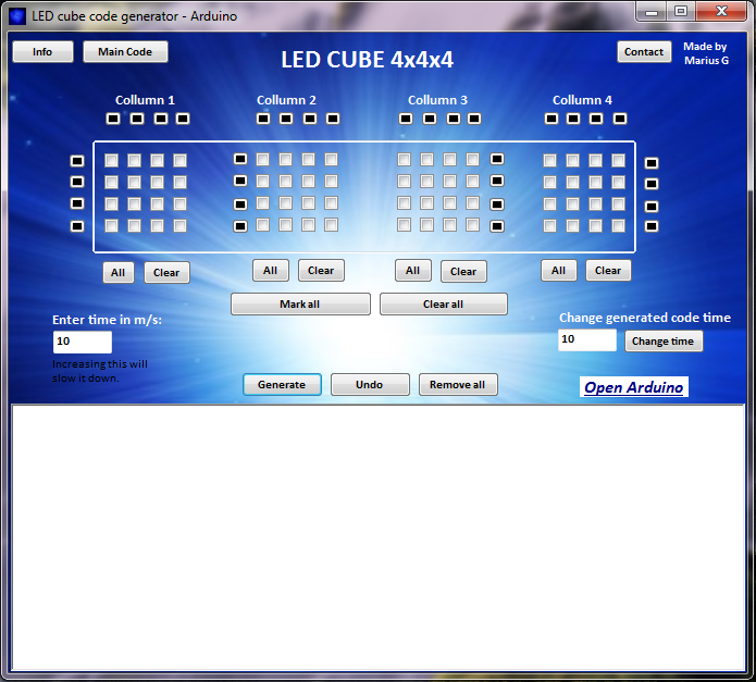 Picture of The LED Cube Code Generator