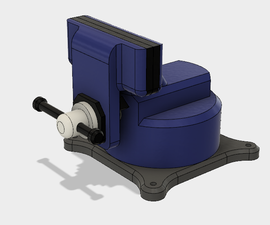 3D-printable Vise in Fusion360