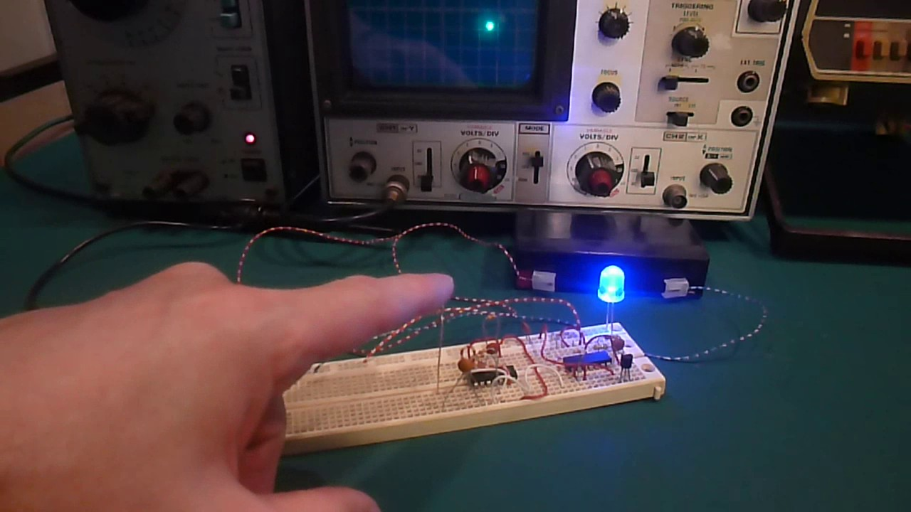 Picture of Circuit at Work - Watch Video for Details & Waveforms.