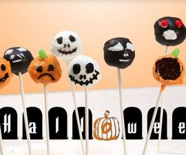 Halloween Themed Brownie Cake Pops