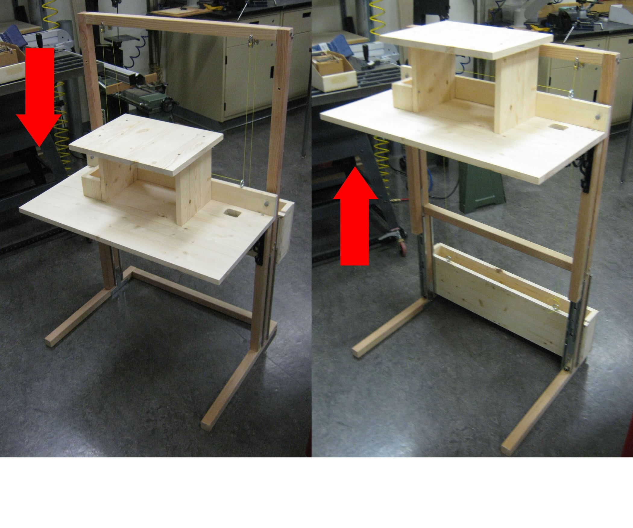 Convertible Standing/Sitting Desk for $200