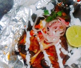Chilaquiles Stuffed Poblano Foil Dinners