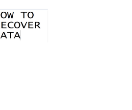 how to recover a lost file