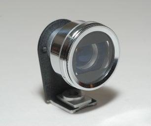 28mm Optical Finder for Ricoh GR Digital - upcycling an old movie lens