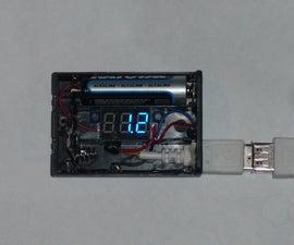Cute AA voltmeter