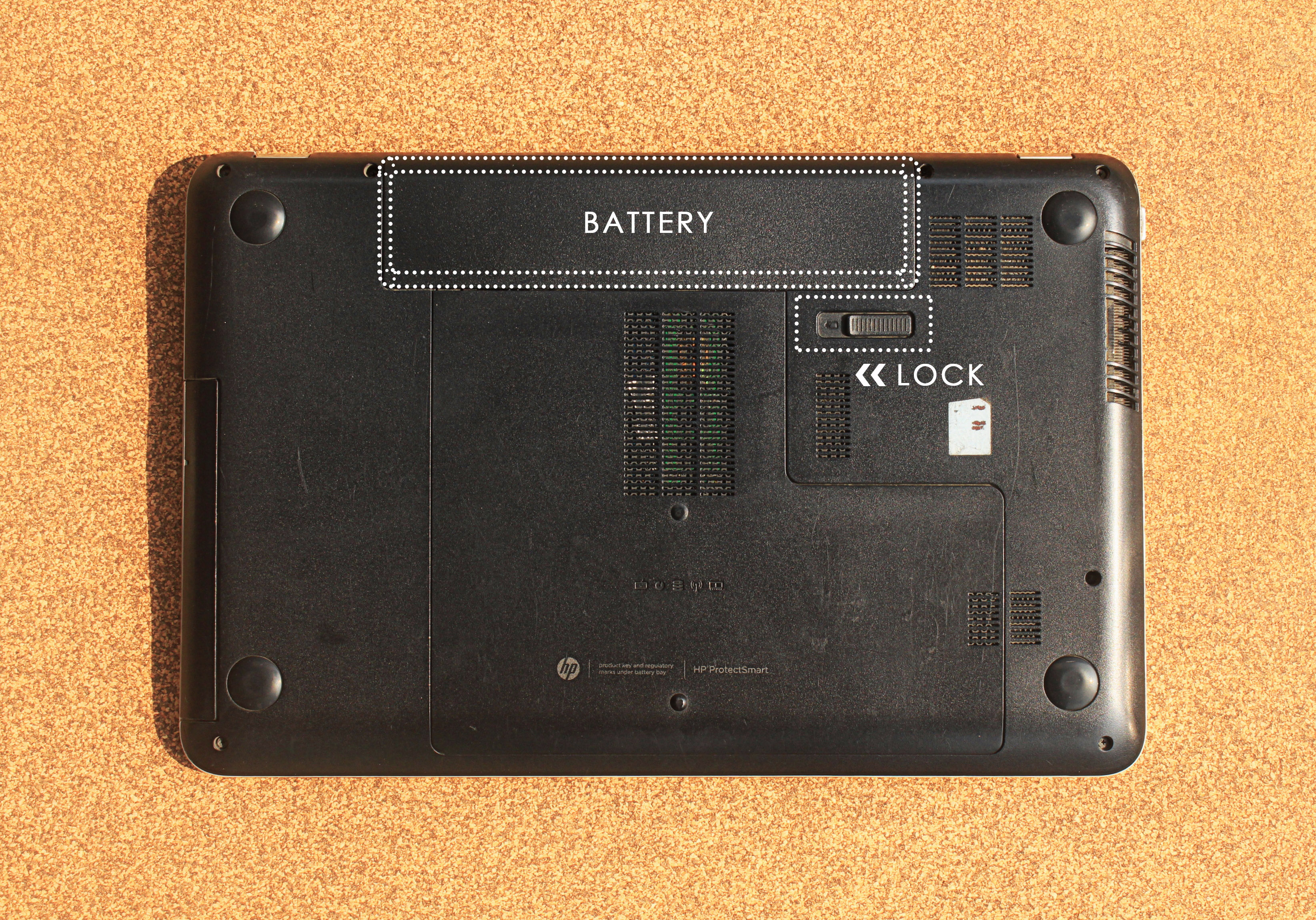 Picture of Flip Your Laptop to the Rear Side.