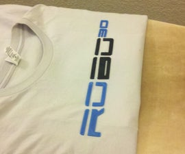 Iron on 3D printed T-shirt design